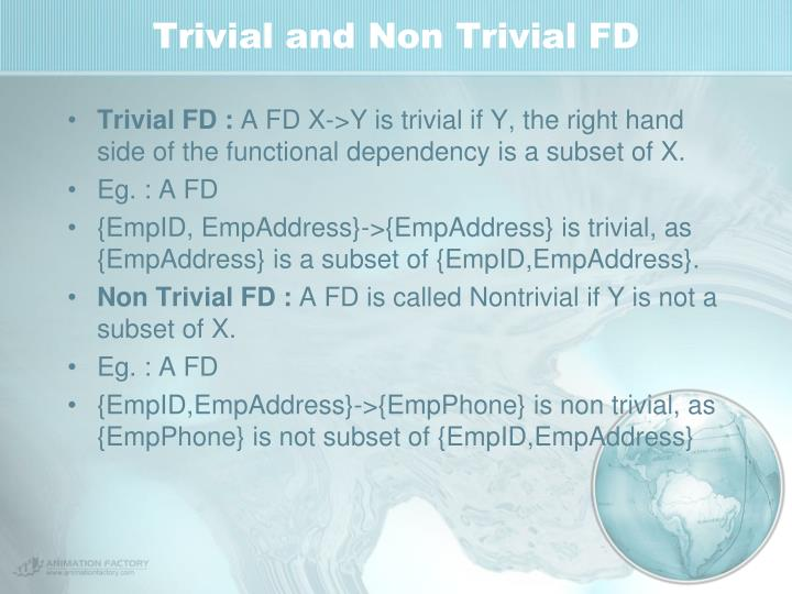 Trivial and Non Trivial FD