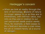heidegger s concern