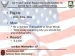airlift and tanker association scholarships for arnold air society and silver wings