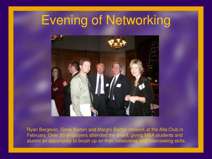 Evening of Networking