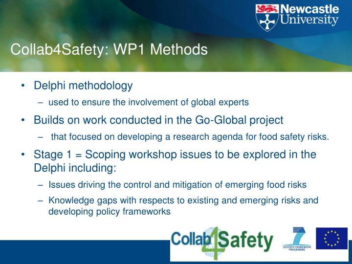Collab4Safety: WP1 Methods