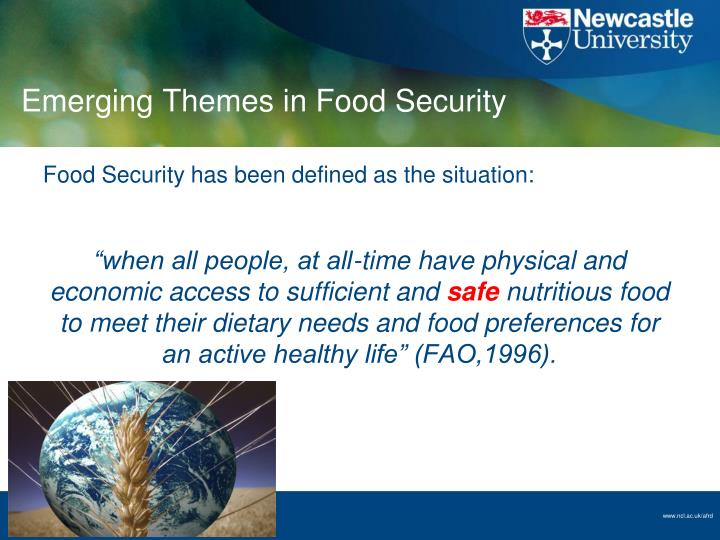 Emerging Themes in Food Security