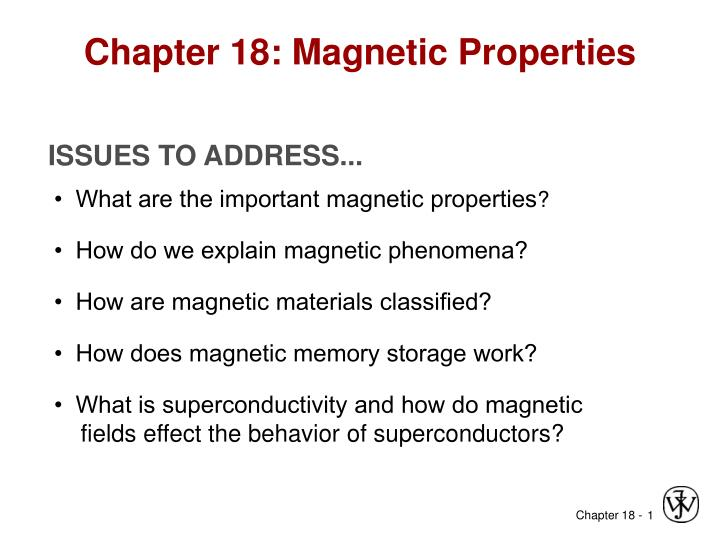 Chapter 18 magnetic properties