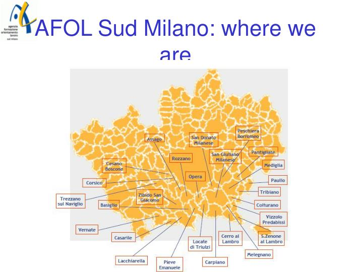 AFOL Sud Milano: where we are