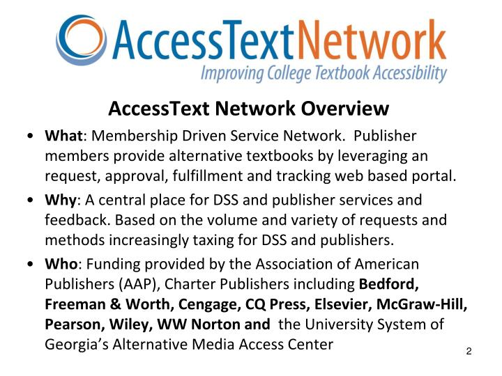 AccessText Network Overview