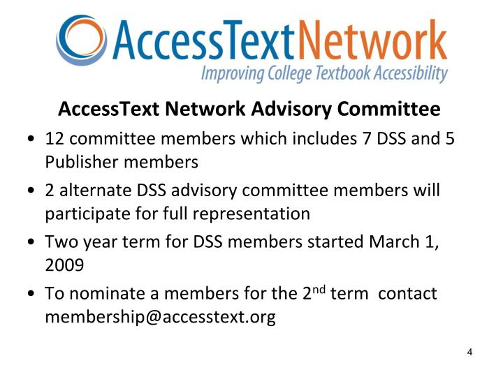 AccessText Network Advisory Committee