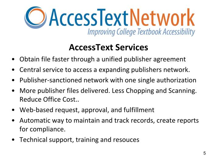 AccessText Services