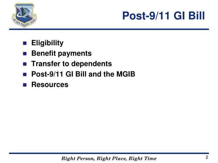 Post 9 11 gi bill