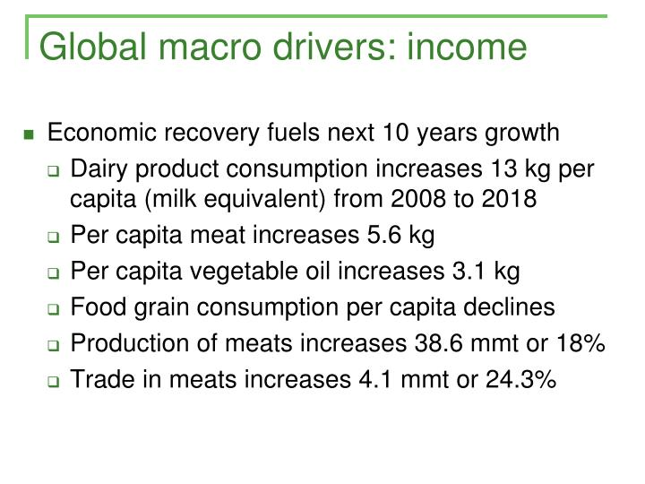 Global macro drivers: income