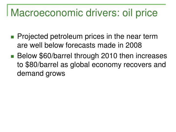 Macroeconomic drivers: oil price