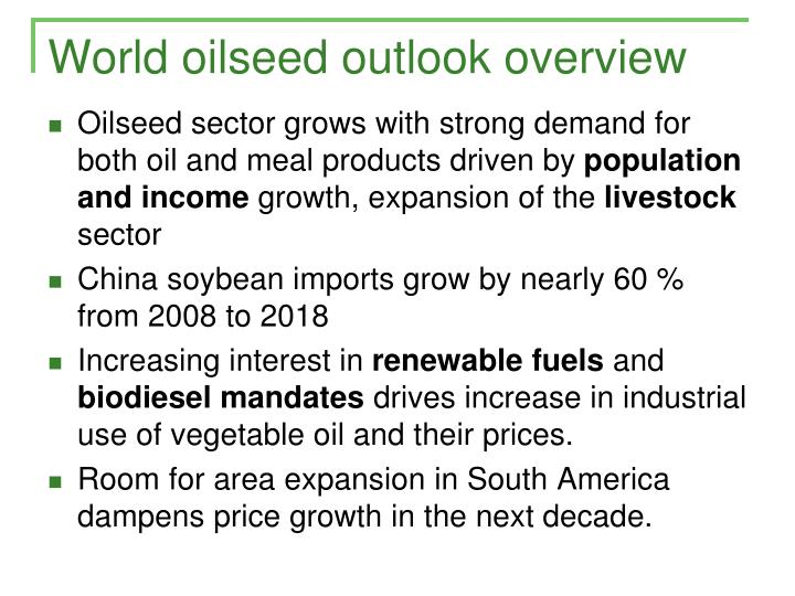 World oilseed outlook overview