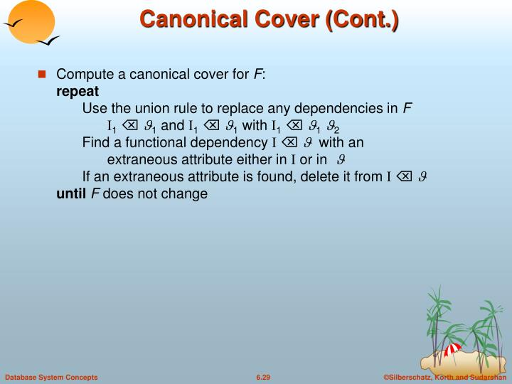Canonical Cover (Cont.)