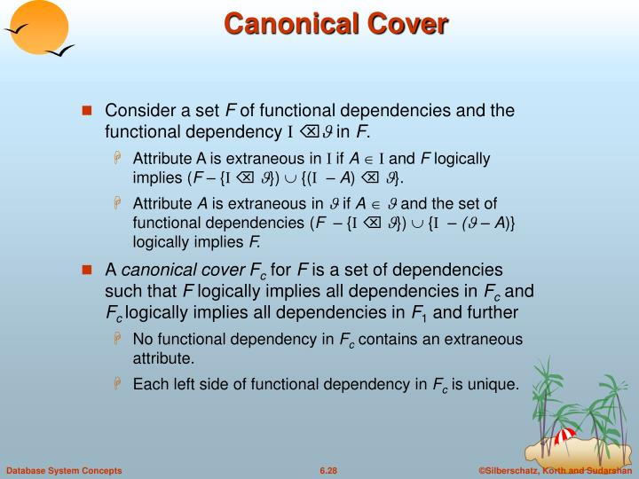 Canonical Cover