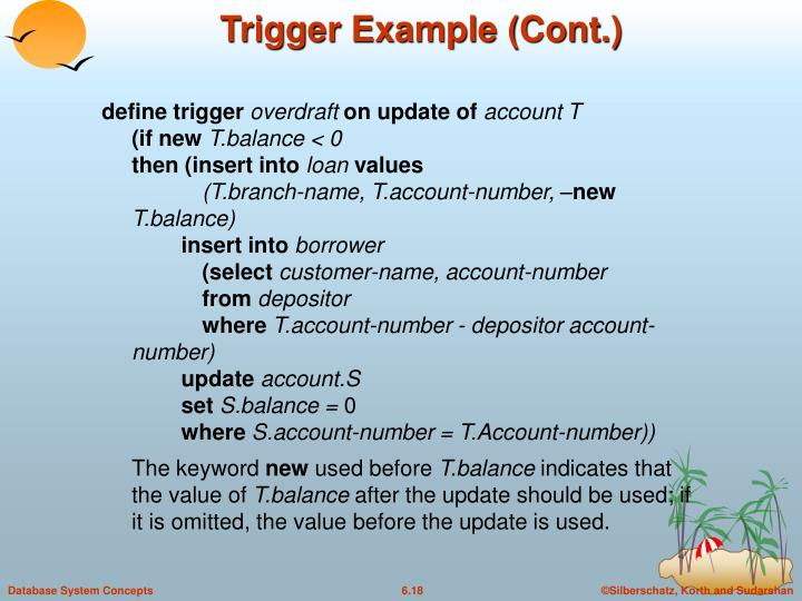 Trigger Example (Cont.)