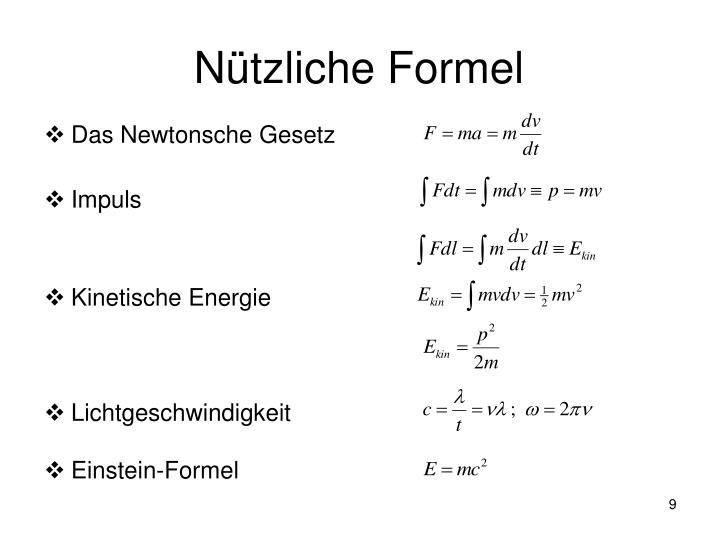 Nützliche Formel