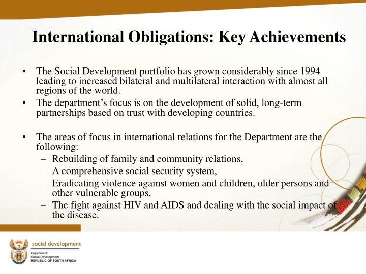 International Obligations: