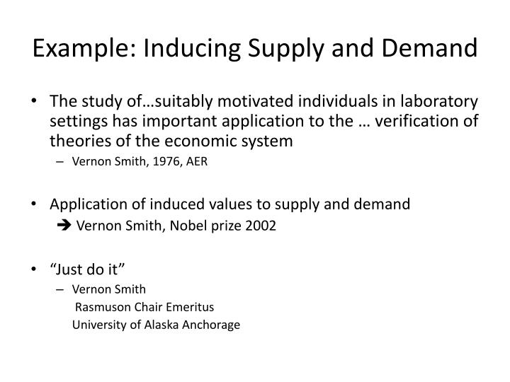 Example: Inducing Supply and Demand