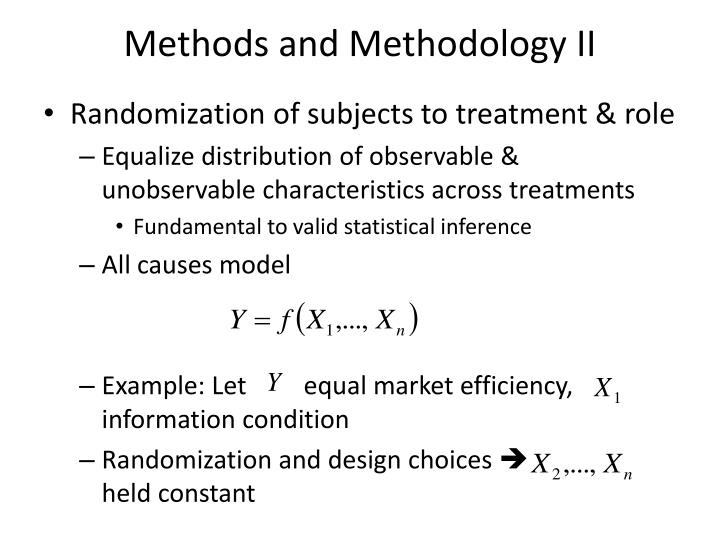 Methods and Methodology II