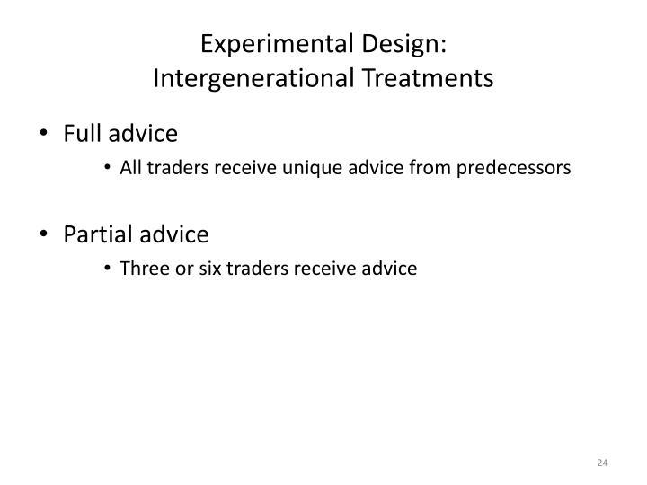 Experimental Design: