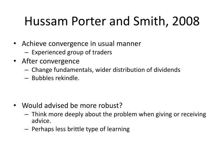Hussam Porter and Smith, 2008
