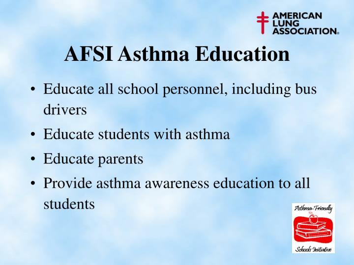 AFSI Asthma Education