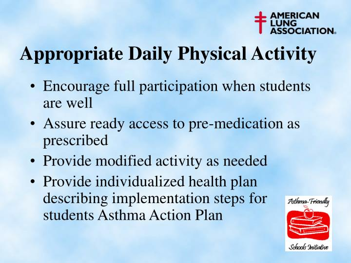 Appropriate Daily Physical Activity