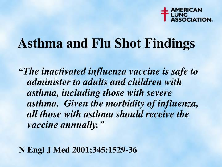 Asthma and Flu Shot Findings