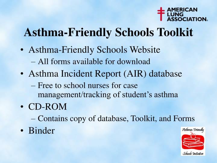 Asthma-Friendly Schools Toolkit