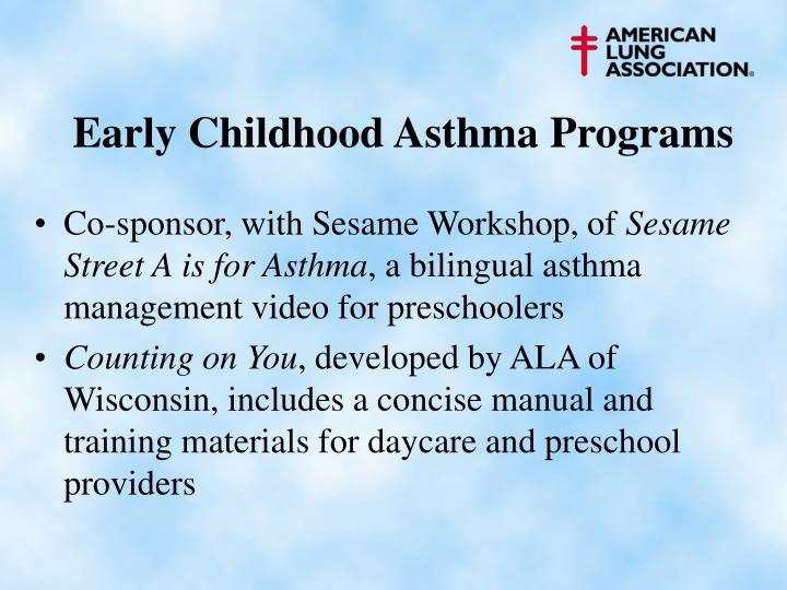 Early Childhood Asthma Programs