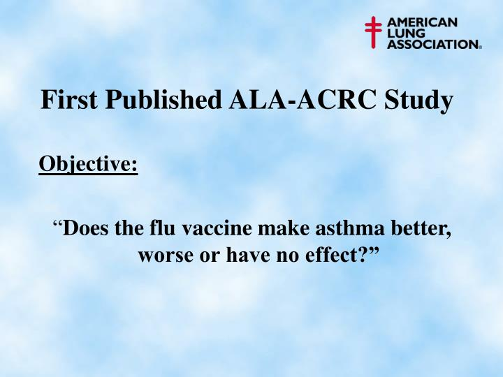 First Published ALA-ACRC Study