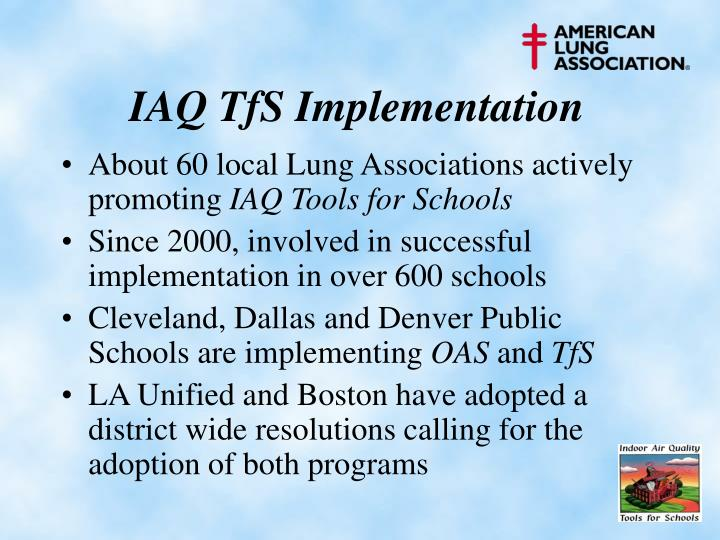 IAQ TfS Implementation