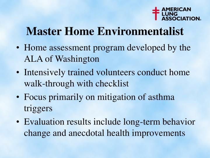 Master Home Environmentalist