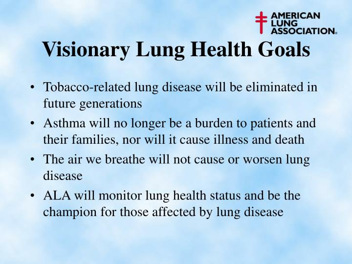 Visionary Lung Health Goals