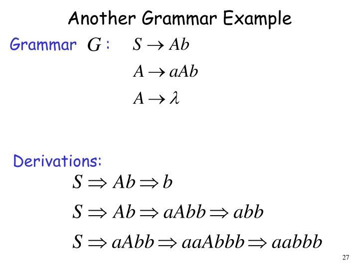 Another Grammar Example