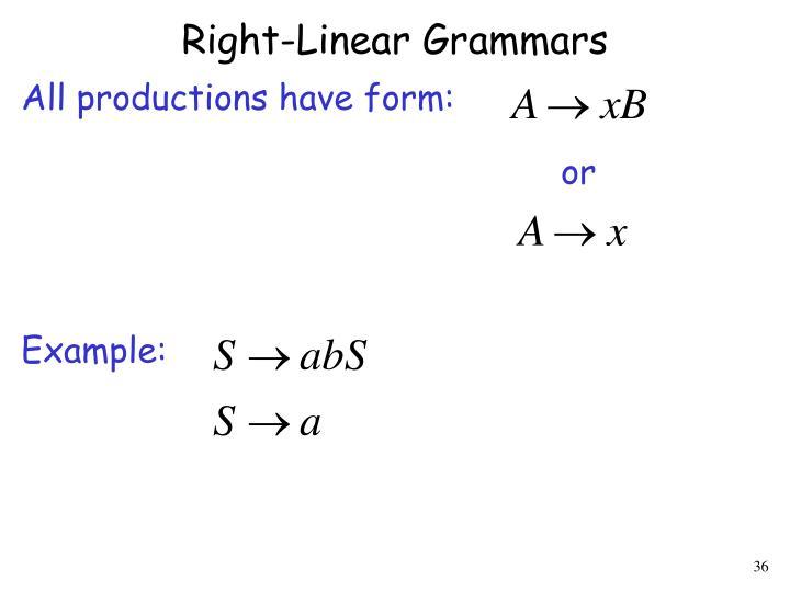 Right-Linear Grammars