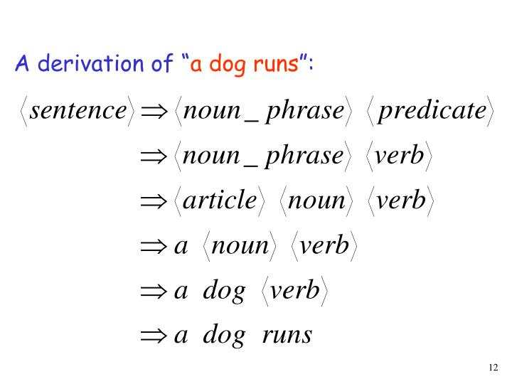 """A derivation of """""""