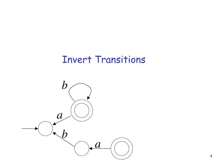Invert Transitions