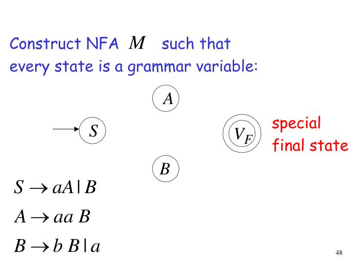 Construct NFA         such that