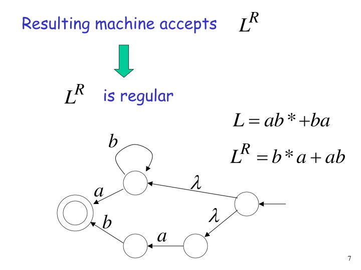 Resulting machine accepts