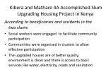kibera and mathare 4a accomplished slum upgrading housing project in kenya