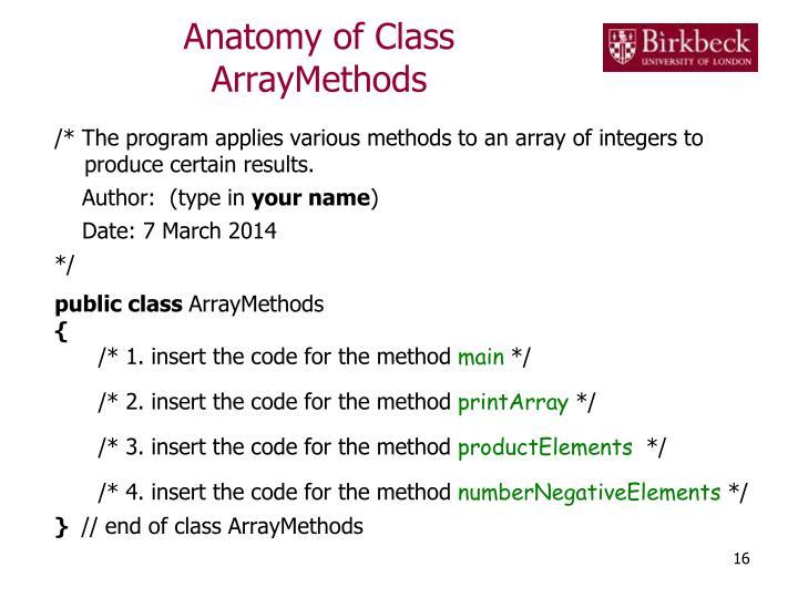 Anatomy of Class
