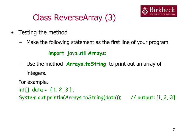 Class ReverseArray (3)