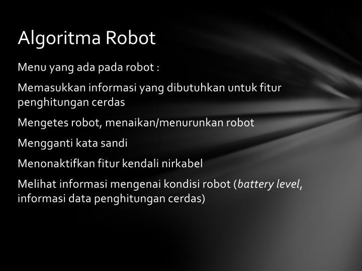 Algoritma Robot