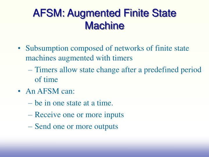 AFSM: Augmented Finite State Machine