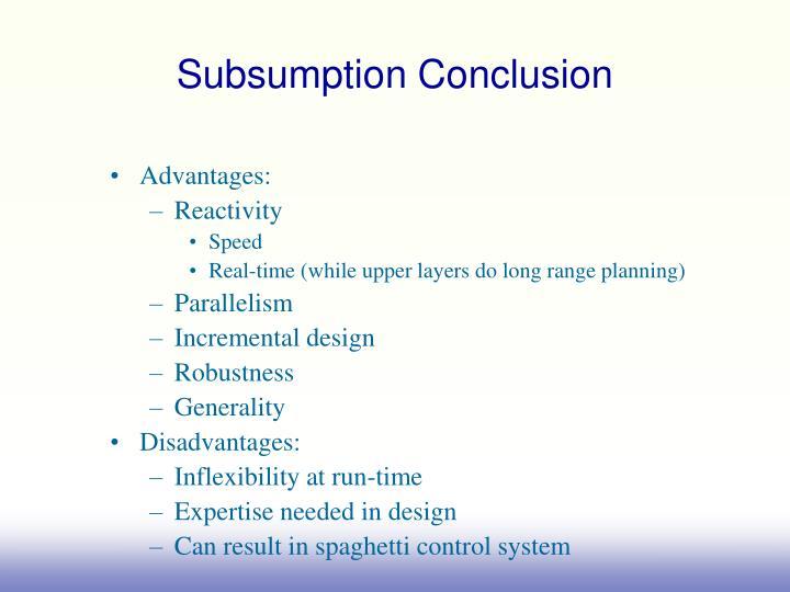 Subsumption Conclusion
