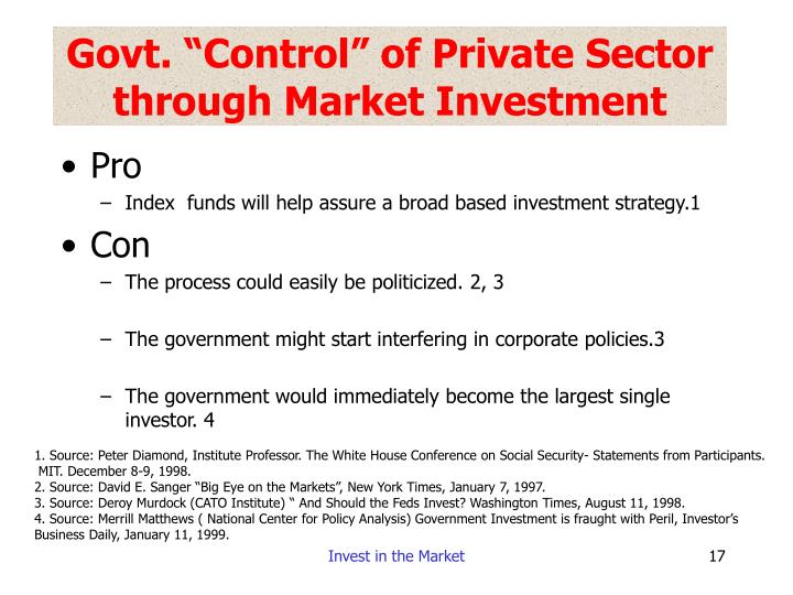 "Govt. ""Control"" of Private Sector through Market Investment"