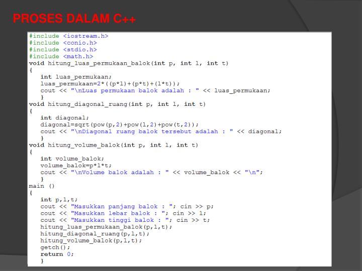 PROSES DALAM C++