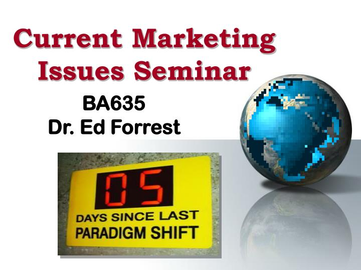 current marketing issues seminar n.