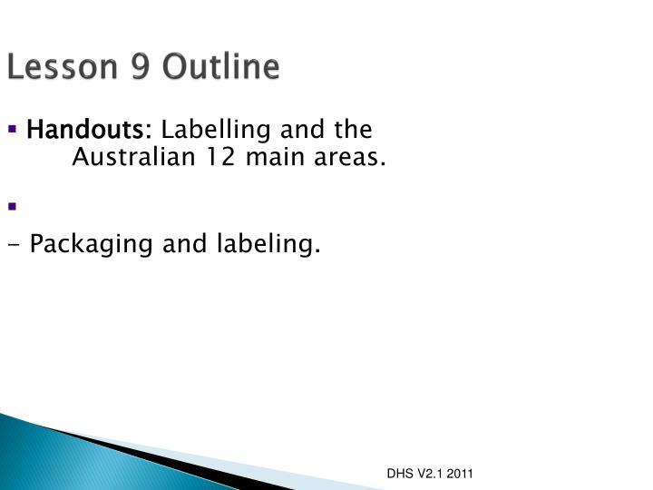 Lesson 9 outline