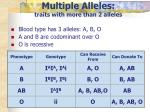 multiple alleles traits with more than 2 alleles